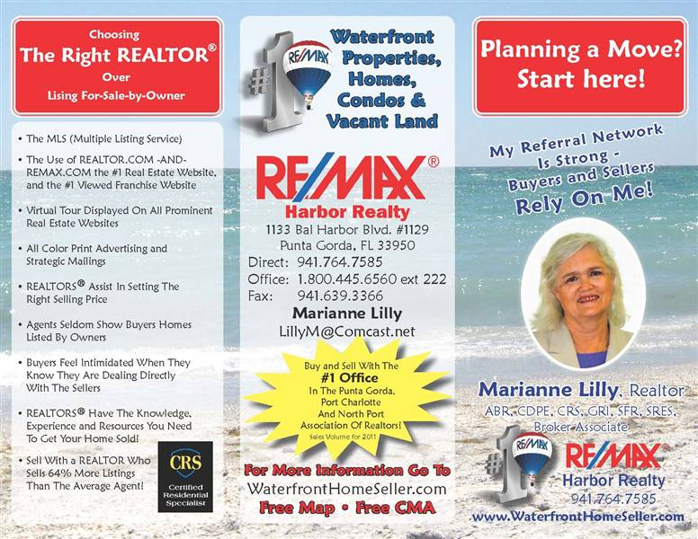 Punta Gorda FL Real Estate Listings And Homes For Sale, Home Buying, Home  Selling Information U2013 RE/MAX Harbor Realty   Homepage  Home For Sale Brochure